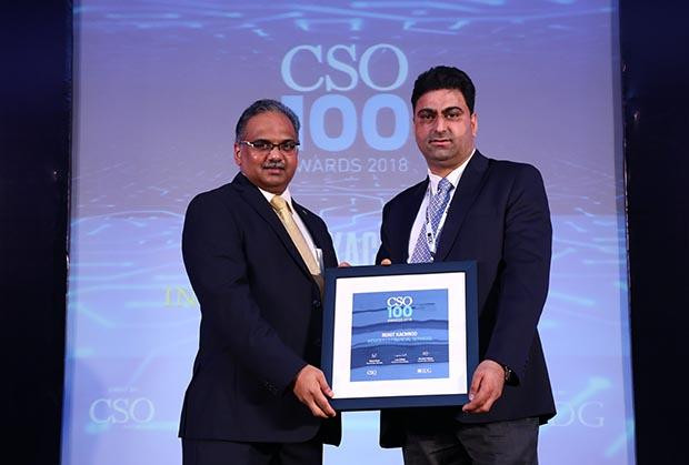 Rohit Kachroo, CISO, Indiabulls Group receives the CSO100 Award for 2018