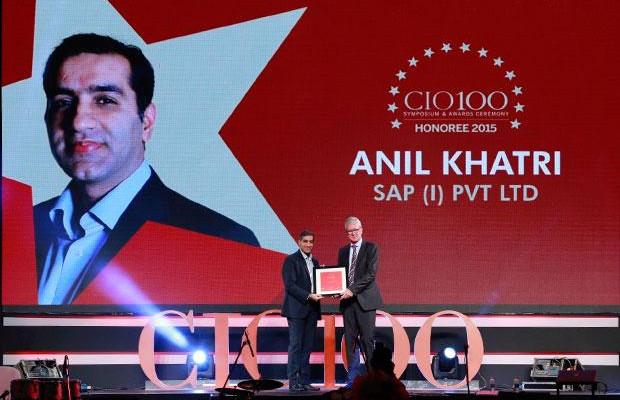 The Versatile 100: Anil Khatri, Head- IT of SAP India receives the CIO100 Award for 2015