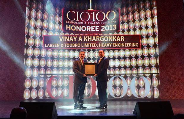 The Astute 100: Vinay A Khargonkar, Group CIO, L&T Heavy Engineering receives the CIO100 Award for 2013.