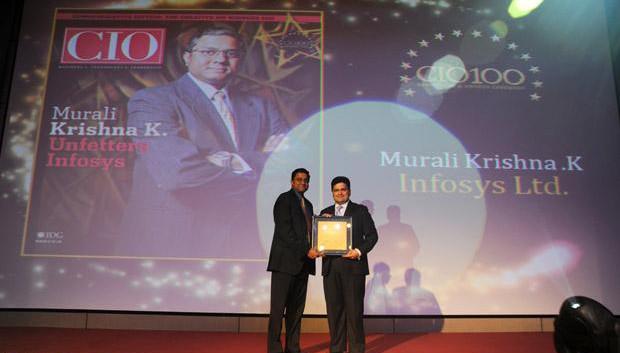 The Creative 100: Muralikrishna K, Sr. VP Group Head-Computer, Infosys receives CIO100 Award for 2011
