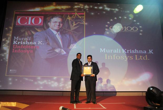 The Creative 100: Muralikrishna K, Sr. VP Group Head-Computer, Infosys receives CIO100 Award for 2011