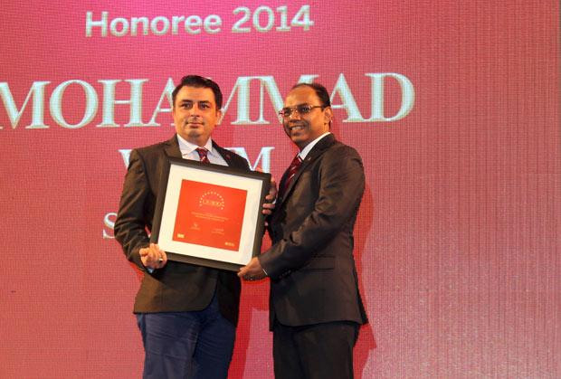 The Dynamic 100: Mohammad Wasim, Director & Global Infrastructure Lead, Sapient Corporation receives the CIO100 Award for 2014