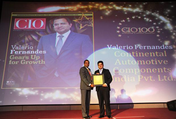 The Creative 100: Valerio Fernandes, GM-IT, Continental Automotive Components receives the CIO100 Award for 2011.