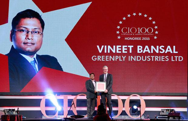The Versatile 100: Vineet Bansal, Head IT of Greenply Industries receives the CIO100 Award for 2015