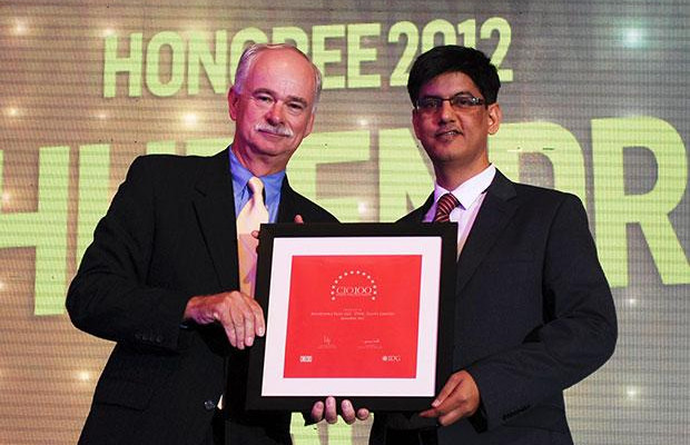 The Resilient 100: Bhupendra Pant, HEAD - IT, Larsen & Toubro receives the CIO100 Award for 2012