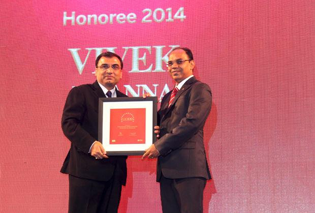 The Dynamic 100: Vivek Khanna, Sr. VP-IT, Havells India receives the CIO100 Award for 2014