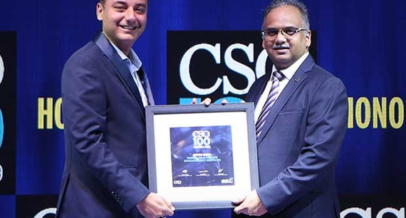 Nitin Gaur, Director - IS at Omega Healthcare Management Services receives the CSO100 Award for 2019