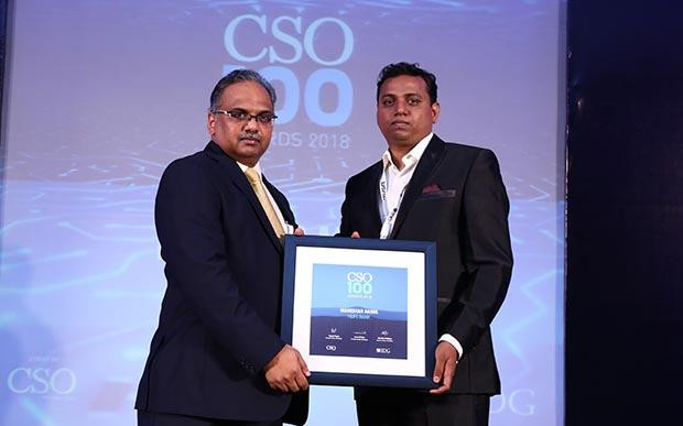Mahindar Arava, VP, HDFC Bank receives CSO100 Award for 2018