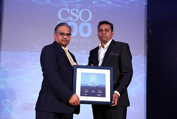 Mahindar Arava, VP, HDFC Bank receives CSO100 Award for 2018
