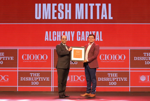 The Disruptive 100: Umesh Mittal, Group Head-IT, Alchemy Capital Management receives the CIO100 Award for 2019
