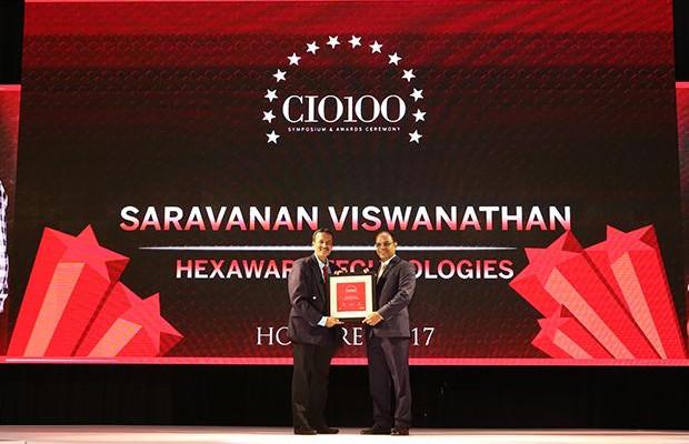 The Digital Innovators: Saravanan Viswanathan, Head-Internal Systems and Technology of Hexaware Technologies receives the CIO100 Award for 2017