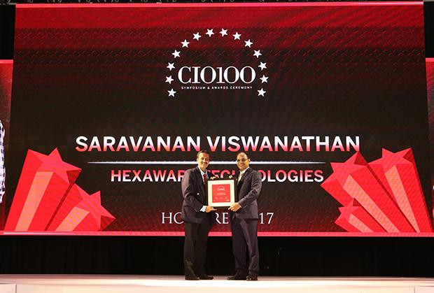 The Digital Innovators: Saravanan Viswanathan, Head-Internal Systems and Technology of Hexaware Technologies receives the CIO100 Award for 2017