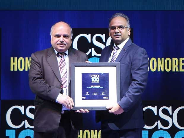 TD Virwani, Chief Information Security Officer (CISO) at Punjab National Bank receives the CSO100 Award for 2019