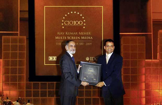 The Ingenious 100: Ajay Kumar Meher, VP - IT & New Media of Sony Entertainment Television India receives the CIO100 Award for 2009