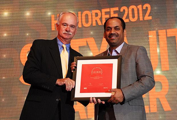 The Resilient 100: Satyajit Sarker, GM-IT of DTDC Courier & Cargo receives the CIO100 Award for 2012