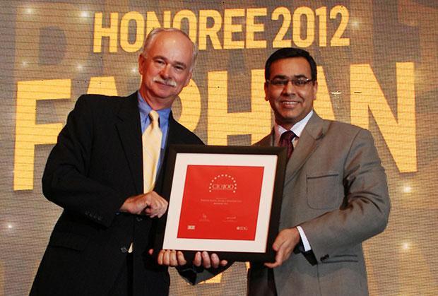 The Resilient 100: Farhan Khan, VP - IT of Radico Khaitan receives the CIO100 Award for 2012