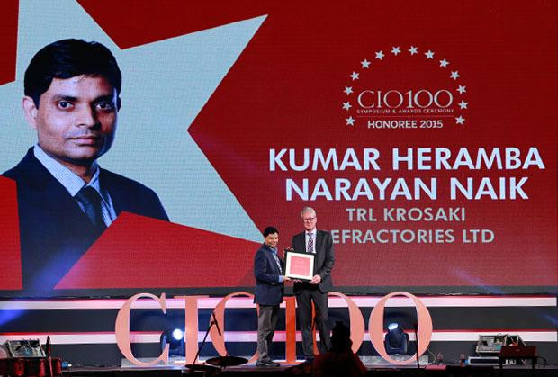 The Versatile 100: Heramba Naik, GM (ICT) and CIO, TRL Krosaki Refractories receives the CIO100 Award for 2015