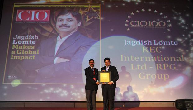 The Creative 100: Jagdish Lomte, Head-IT at KEC International-RPG Group receives the CIO100 Award for 2011