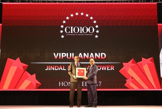 The Digital Innovators: Vipul Anand, Group CIO of Jindal Steel and Power receives the CIO100 Award for 2017