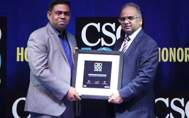 Makesh Chandramohan, Group CISO of Aditya Birla Capital receives the CSO100 Award for 2019