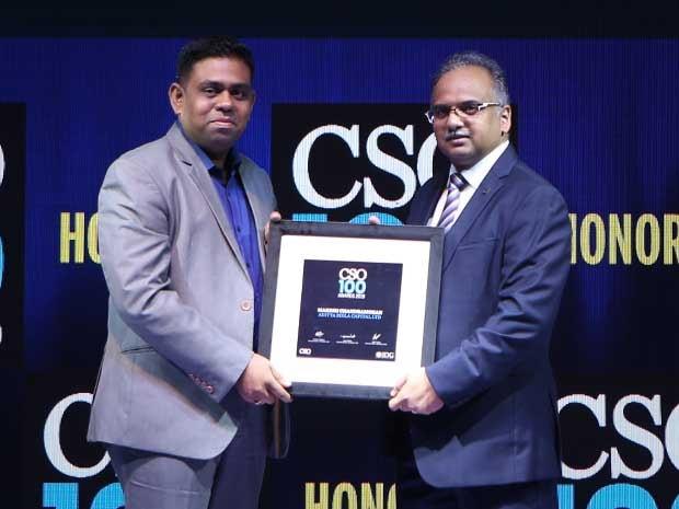 Makesh Chandramohan, Group CISO of Aditya Birla Capital receives the CSO100 Award for 2019