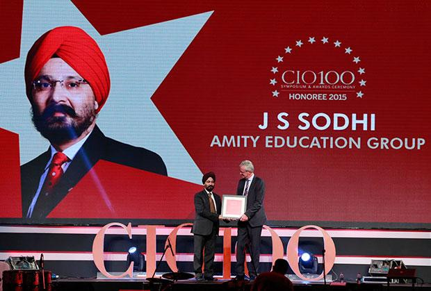 The Versatile 100: J S Sodhi, VP & CIO of Amity Group receives the CIO100 Award for 2015