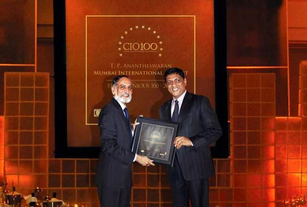 The Ingenious 100: T P Antheswaran, Head-IT, Mumbai International Airport receives CIO100 Award for 2009