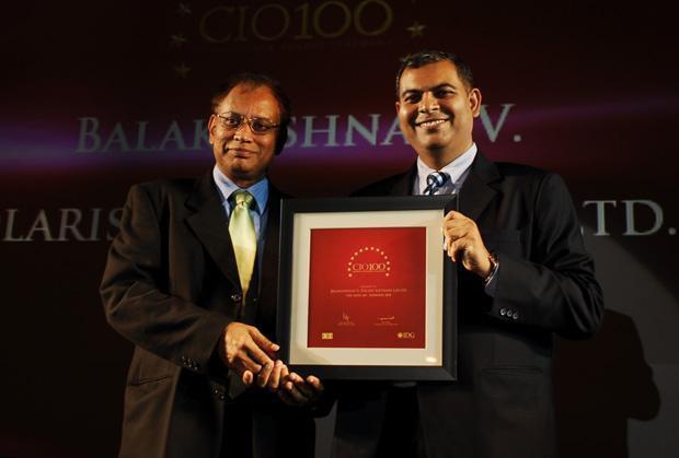 The Agile 100: V. Balakrishnan, CIO of Polaris Financial Technology receives the CIO100 Award for 2010