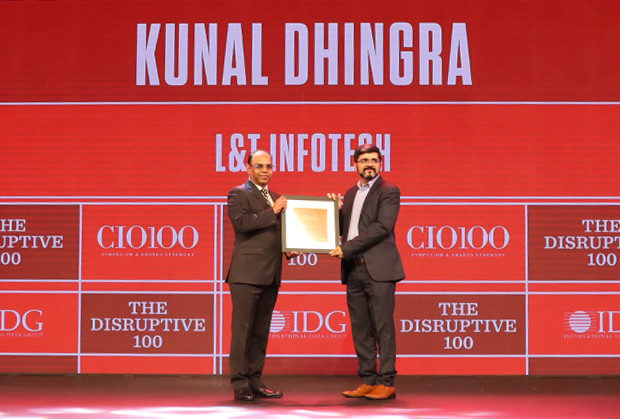 The Disruptive 100: Kunal Dhingra, Head IT, L&T Infotech receives the CIO100 Award for 2019