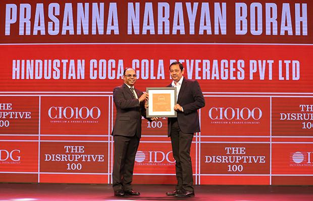 The Disruptive 100: Prasanna Borah, CIO, Hindustan Coca-Cola Beverages receives the CIO100 Award for 2019