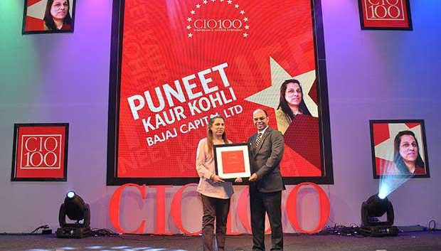 The Transformative 100: Puneet Kaur Kohli, Group Executive VP-IT Operations and Technologies of Bajaj Capital receives the CIO100 Award for 2016