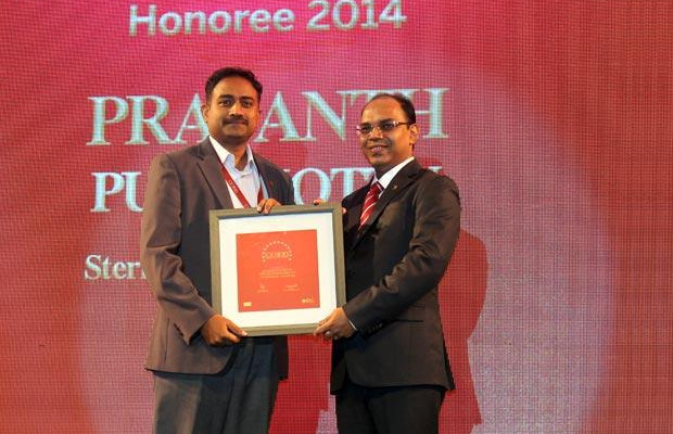 The Dynamic 100: Prasanth Puliakottu, CIO of Sterlite Technologies receives the CIO100 Award for 2014