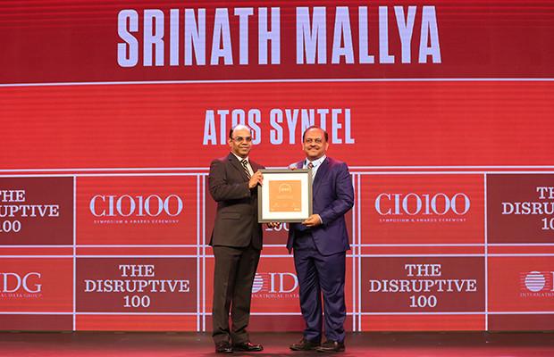 The Disruptive 100: Srinath Mallya, Sr. VP & CIO, Atos Syntel  receives the CIO100 Award for 2019