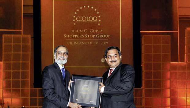 The Ingenious 100: Arun O Gupta, Group CTO of Shoppers Stop receives the CIO100 Award for 2009