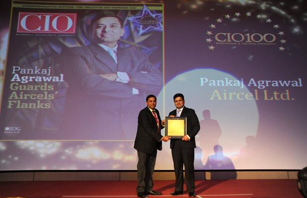 The Creative 100: Pankaj Agrawal, Head-Governance and CISO of Aircel receives the CIO100 Award for 2011