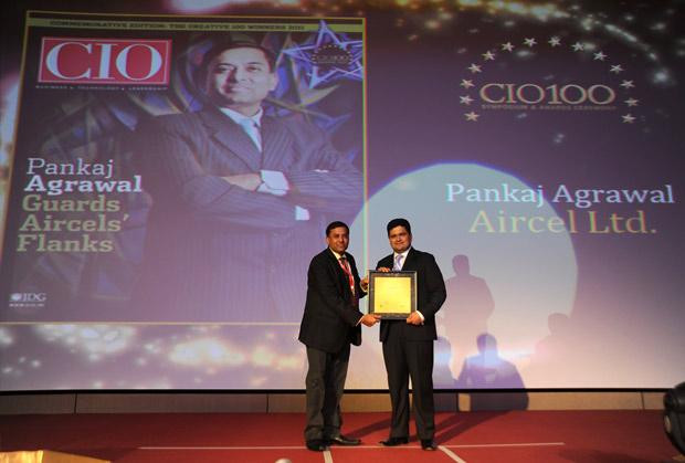 The Creative 100: Pankaj Agrawal, Head-Governance and CISO of Aircel receives the CIO100 Award for 2011