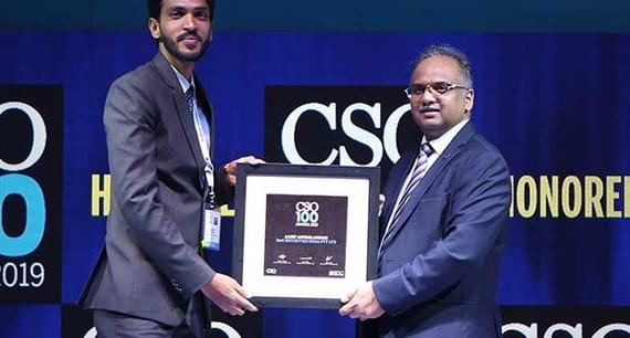 Aasif Ansari, manager infoSec at B&K Securities India receives the CSO100 Award for 2019