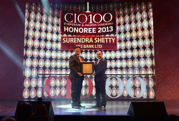 The Astute 100: Surendra Shetty, Sr. President & CIO of Yes Bank receives the CIO100 Award for 2013