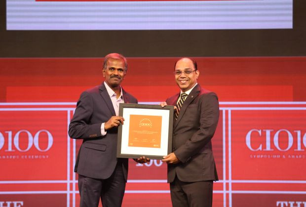 The Disruptive 100: Sendil Kumar, VP – IT, Shriram Value Services receives the CIO100 Award for 2019
