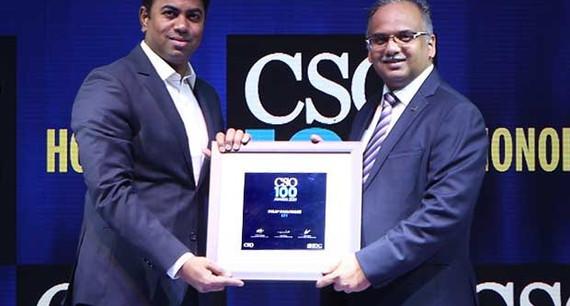 Nitin Nimbalkar, CISO at Fullerton India Credit Company, receives the CSO100 Award for 2019