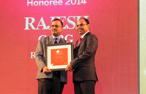 The Dynamic 100: Rajesh Garg, Head IT-Transformation Solutions of Rolta India receives the CIO100 Award for 2014