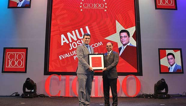 The Transformative 100: Anuj Joshi, AVP-IT of Evalueserve receives the CIO100 Award for 2016