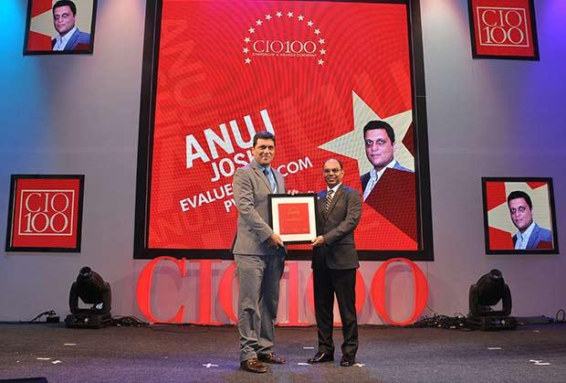 The Transformative 100: Anuj Joshi, AVP-IT of Evalueserve receives the CIO100 Award for 2016