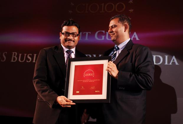 The Agile 100: Amit Gupta, VP-IT of Fidelity Business Services India receives the CIO100 Award for 2010