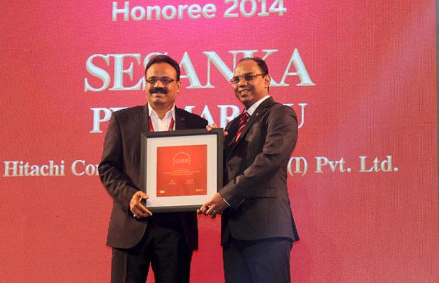 The Dynamic 100: Sesanka Pemmaraju, IS Director & CISO of Hitachi Consulting Software Services India receives the CIO100 Award for 2014