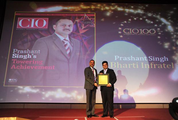 The Creative 100: Prashanth Veer Singh, CIO & CISO, Bharti Infratel receives the CIO100 Award for 2011.