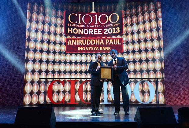 The Astute 100: Aniruddha Paul, CIO at ING Vysya Bank receives the CIO100 Award for 2013