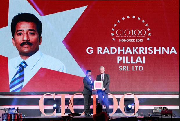 The Versatile 100: Radhakrishna Pillai, CIO of SRL receives the CIO100 Award for 2015