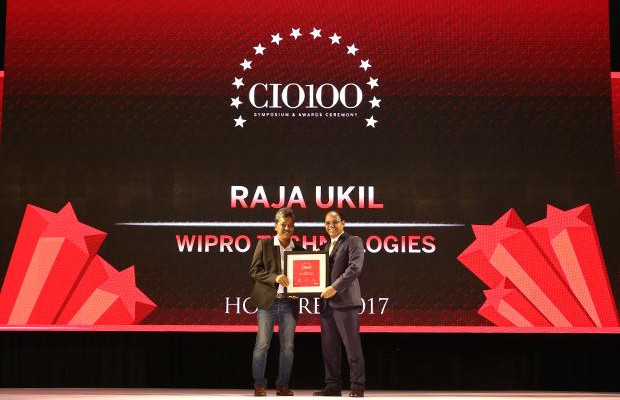 The Digital Innovators: Raja Ukil, CIO at Wipro receives the CIO100 Award for 2017
