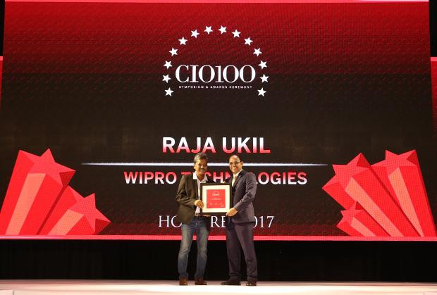 The Digital Innovators: Raja Ukil, CIO at Wipro receives the CIO100 Award for 2017